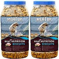 Meat Up Chicken Flavour Real Chicken Biscuit, 500g ( Buy 1 Get 1 Free)