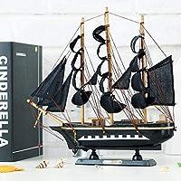 ライフアクセサリー装飾品彫刻像置物装飾木製帆船スタイル木製帆船装飾品工芸品家の装飾振り子