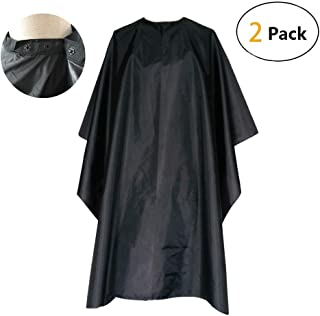 FocusOn Professional Barber Cape, Salon Styling Cape with Adjustable Snap Closure for Hair Cutting - 2 Pack, 59