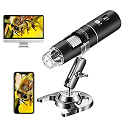 cheap STPCTOU Wireless Digital Microscope 50X-1000X 1080P Miniature Portable WiFi USB Microscope with 8 LED Lights for iPhone / iPad / Smartphone / Tablet / PC