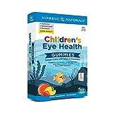 Nordic Naturals Children's Eye Health Gummies, Strawberry Lemonade - 30 Gummies - 484 mg Total Omega-3s with EPA, DHA, Lutein & Zeaxanthin - Brain Health, Antioxidant Support - Non-GMO - 30 Servings
