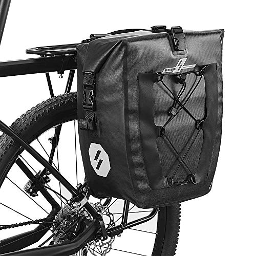 Purchase Loijon 27L Waterproof Bike Rear Rack Bag Bicycle Pannier Bag Cycling Touring Grocery Bike T...