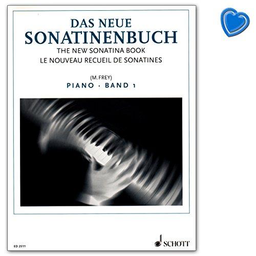 Das neue Sonatinenbuch Band 1 für Klavier - Notenbuch mit bunter herzförmiger Notenklammer - Schott Music ED2511 9790001037938