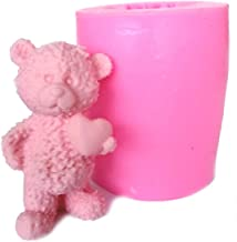 RETAIL SUPPLIES Lovely 3D Teddy Bear Silicone Mold Fondant soap Candle Mould