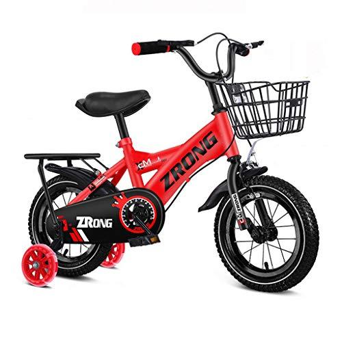 JNF Kinderfahrräder, Babyfahrräder Für Männer Und Frauen, 12-14-16-18 Zoll, Anti-Rutsch-Reifen, Doppelbremsen