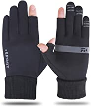 JCCOZ Touch Screen Dew Two-Finger Non-Slip Breathable Gloves for Outdoor Hiking Fishing Running Fitness Driving