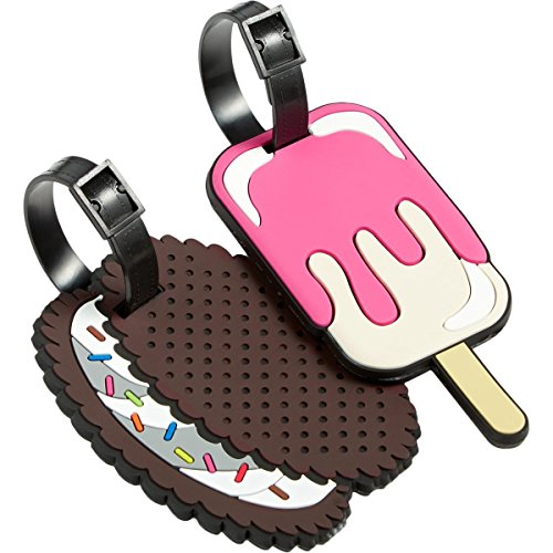 Betsey Johnson | Women's Rubber Ice Cream Luggage Tags Pink O/S |