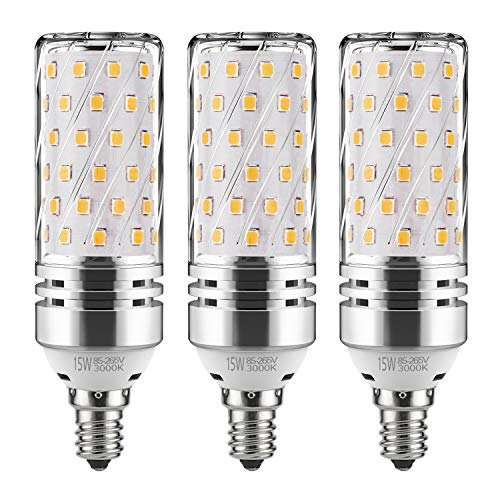GEZEE E12 LED Corn Bulbs,15W LED Candelabra Light Bulbs...
