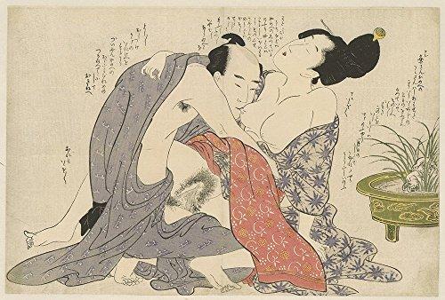 Spiffing Prints Kitagawa Utamaro - Geheime affaire Van EEN getrouwde Man - Large - Matte Print