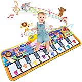 Hollyhi Kids Piano Mat,Musical Keyboard Electronic Music Play Blanket Dance Mat with 8 Different Animal Sound for Early Learning Education Toys Gift Toys for 1 2 3 4 5 6 7 8 Year Old Baby Boy Girl