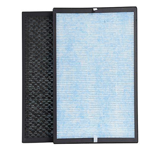 AIIBOT 4-in-1 Ersatzfilter für Luftreiniger, Vorfilter, echter Hepa-Filter, Kältekatalysator und Aktivkohlefilter