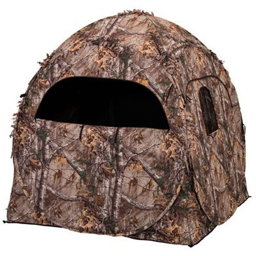 Ameristep Doghouse Ground Blind, Two Man Hunting Blind in Realtree Xtra Camo...