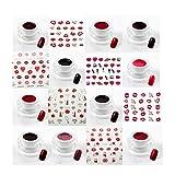 KS-204 - Juego creativo de 10 geles de colores para uñas, para San Valentín, Kiss, color rojo, gel UV, KS-204