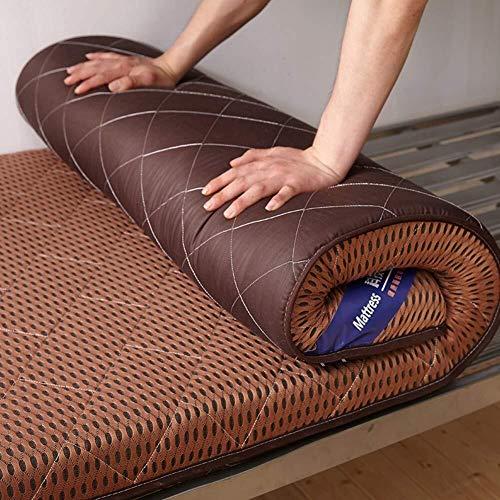 J-Kissen Verdicken Futon Tatami Boden Matratze Mat, Boden Schlafmatte, faltbares Schlafmatratze-Auflage-Kissen, Nicht-Rutsch-Schlafkissen Mat (Color : D, Size : 1.2m*1.9m)