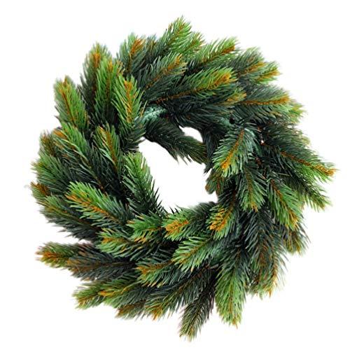LIOOBO La collezione decorativa di ghirlande natalizie migliora l'arredamento invernale ghirlanda di ghirlande realistiche in plastica per la casa del negozio