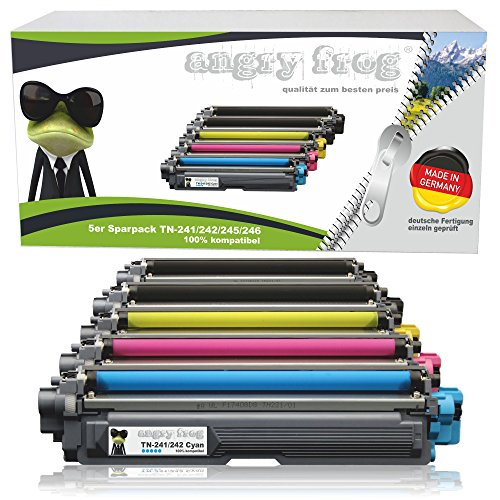 5er Pack AngryFrog® XL Toner kompatibel zu Brother TN-242 TN-246 für Brother HL-3142 CW HL-3152 HL-3172 DCP-9017 CDW DCP-9022 MFC-9142 MFC-9332 MFC-9342