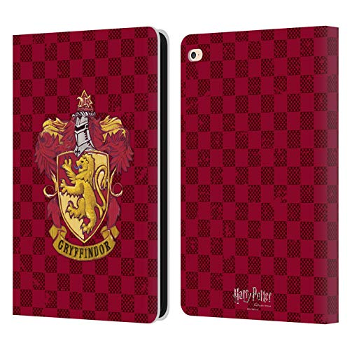 Official Harry Potter Gryffindor Checkered Crest Sorcerer's Stone I Leather Book Wallet Case Cover Compatible For Apple iPad Air 2 (2014)
