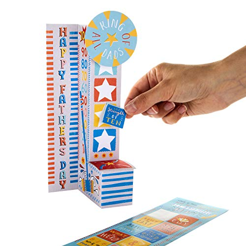 Father's Day Card for Dad from Hallmark - 3D Pop-up Ring-The-Bell Game Design