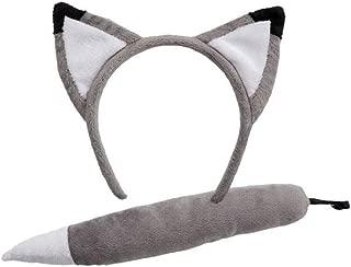 Wicked Adults Wolf Ears & Tail Animal Fancy Dress Accessory Set