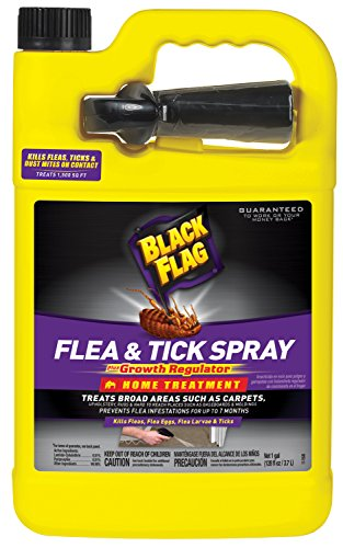Black Flag Flea & Tick Killer Home Treatment with Growth Regulator Spray, 1-Gallon