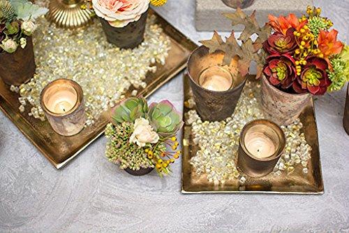 Gold Vase Filler Crushed Mirror Glass Buy Online In Fiji At Desertcart
