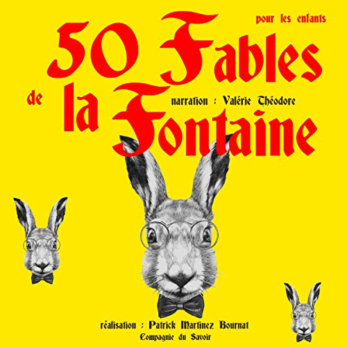 Page de couverture de 50 Fables de La Fontainepour les enfants