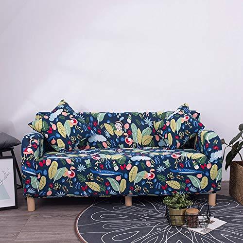 WXQY Funda de sofá con diseño Floral Elástico Elástico Universal Sofá Funda seccional Sofá Esquinero para Muebles Sillones A8 4 plazas