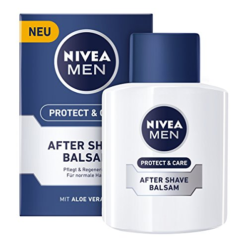 NIVEA Men, After Shave Balsam für Männer, 1 x 100 ml Flasche, Protect & Care