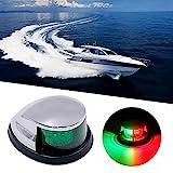 Obcursco LED Navigation Lights Deck Mount, New Marine Sailing Lights for Bow Side,Port, Starboard, Pontoons,...