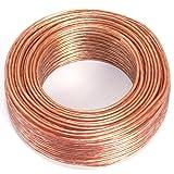 Manax - Cable para altavoz (2 x 0,75 mm², 25 m, CCA, transparente)