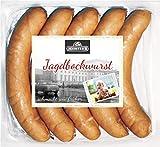 Jagdbockwurst | Meister´s Bockwurst knutscht Jagdwurst | traditionelles Würstchen geräuchert | Wurst im Naturdarm | Premium-Qualität | 5 x 100g