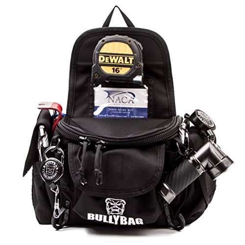 Adjuster Estimators BullyBag Ultra Pouch - Custom Tool Belt Pouch w Paddle Hip Clip w Badge & Gear Retainers for Adjusters, Estimators, Electricians, Roofing Sales & more