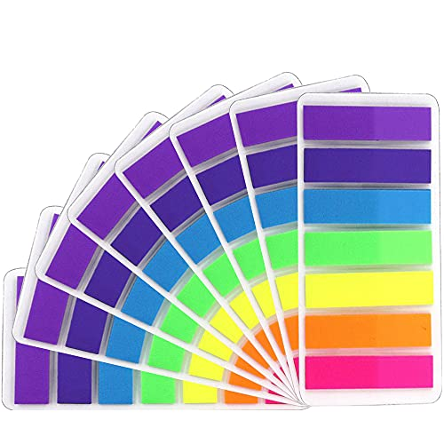 Sticky Notes Flags, Index Repositionable, 7 Bright Colors Page Index Stickers Color Index Tabs Index Flag, Pack of 1120
