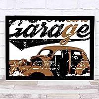 工芸品の装飾壁画車古いガレージ機械自動車修理トラック会社頭蓋骨グランジディスプレイ現代の装飾的な壁の装飾