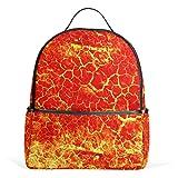 Lava Orange Magma mochila para mujeres adolescentes y niñas, bolso de moda, bolsa de libros para niños, viajes, universidad, casual, para niños preescolares, regreso a casa, suministros mini