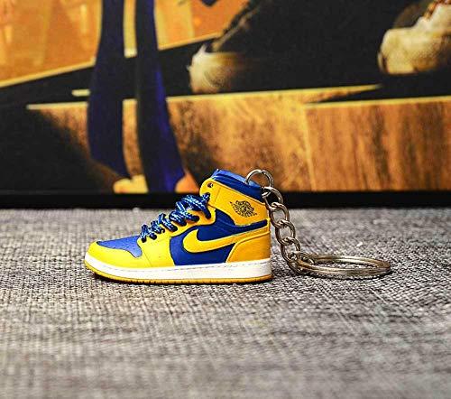 Jordan un par de Zapatos Desnudos Llavero AJ Zapatos de Baloncesto Tridimensional Zapato Molde Bolsa Colgante Hecho a Mano Llavero de Coche 39