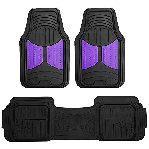 FH Group F11513PURPLE Heavy Duty Tall Channel Floor Season Mats for Trucks, Cars, and Automotive Purposes Trim-to-Fit
