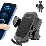 Porta Cellulare Da Auto,ANDOLO Supporto Smartphone per Auto Universale con Rotazione a 360 Gradi,2 Clip di Ventilazione per Tutti i Modelli di Telefono Da 4-7''