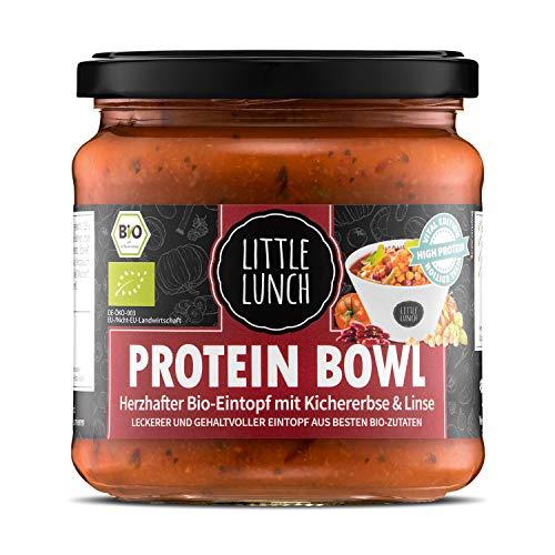 Little Lunch Bio Eintopf Protein Bowl | Linseneintopf, Bohneneintopf | 350ml | 100% Bio-Qualität | Vegan | Ohne zugesetzten Zucker | Laktosefrei | Keine künstlichen Zusätze | Ohne Geschmacksverstärker