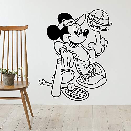 yaonuli sportmuursticker, muis, honkbal, vinyl, wandlamp voor baby, slaapkamer, jongens, afneembaar, cartoon-motief, wanddecoratie