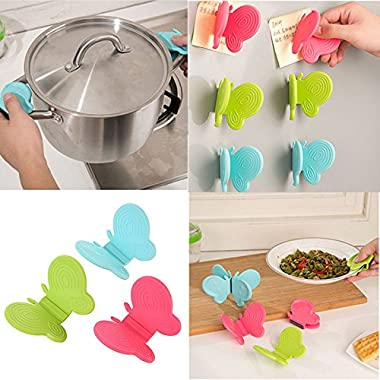 Adorable Butterfly-Shaped Silicone Anti-Scald Device Kitchen Tool Gadget