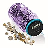 HeQiao Digital Coin Bank Auto Counting Money Savings Jar for US Coins (Purple)