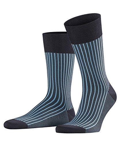 FALKE Men Oxford Stripe Socks - Cotton...