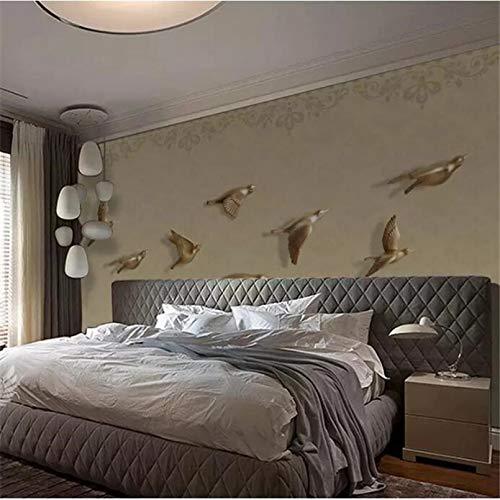 Kundenspezifische Tapete 3d großes Wandbild New China Flying TV Vogel Hintergrund Wandmalerei Tapete Wohnzimmer Tapete 140x100cm