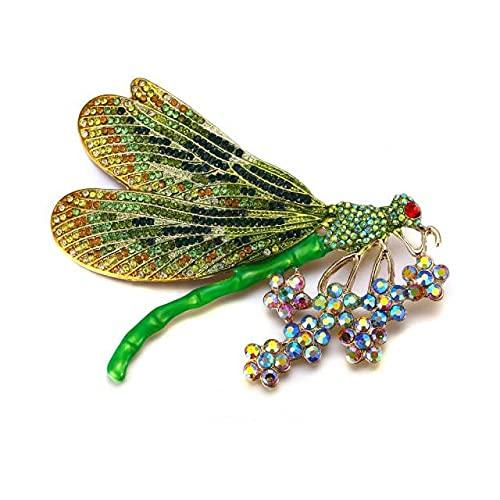 Broches de moda de animales para las mujeres Gold Pins Dragonfly Broche Femme Crystal Party Jewelry regalo