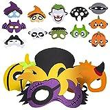 ziidoo 15 pezzi maschera halloween bambini,maschere halloween bambini per feste, puntelli cosplay, articoli per feste