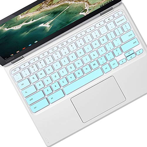 "Keyboard Cover Skin Fit 2020 2019 2018 Lenovo Chromebook C330 11.6"" |Lenovo Flex 11 Chromebook 11.6"" |Lenovo Chromebook N20 N21 N22 N23 100e 300e 500e 11.6"" |Lenovo Chromebook N42 14"", Mint Green"