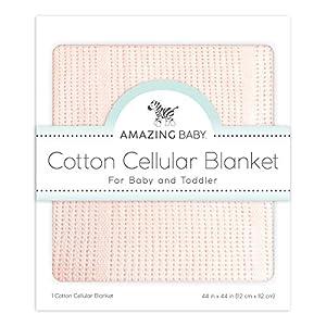 crib bedding and baby bedding amazing baby cellular blanket, premium cotton, soft pink