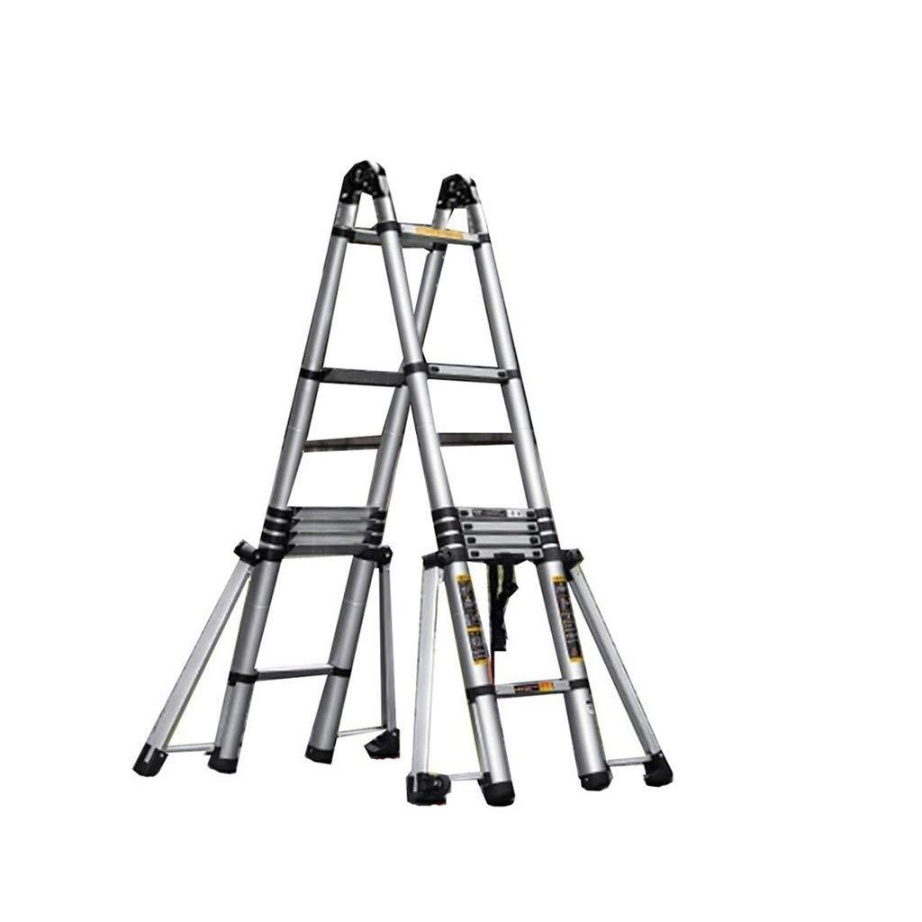 GYL XSJZ Escaleras telescópicas Escalera de Varias Posiciones, Escalera Ligera Retráctil de Aleación de Aluminio, Adecuada para Techo, Hogar Escalera Plegable (Size : 2.5+2.5m): Amazon.es: Hogar