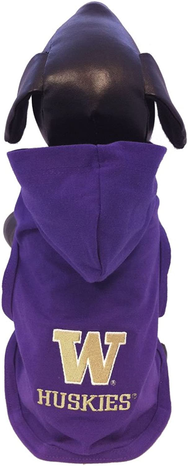 NCAA Washington Huskies Cotton Lycra Hooded Dog Shirt